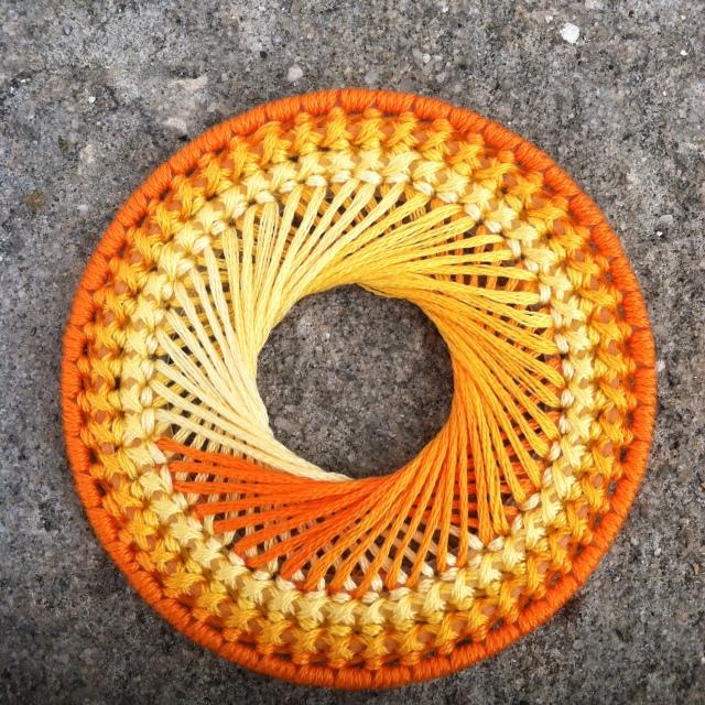 Orange Spirograph